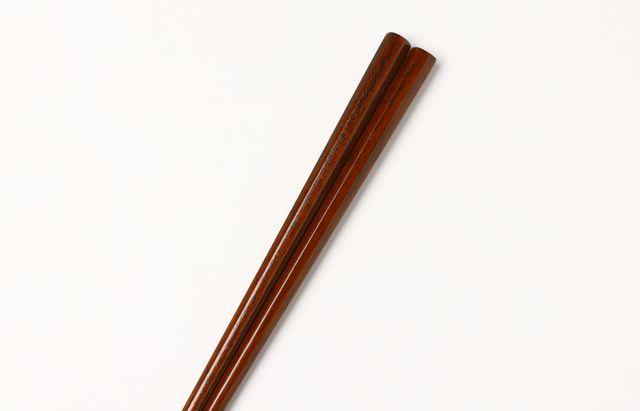 石川漆宝堂 八角箸 摺漆 23.5cm