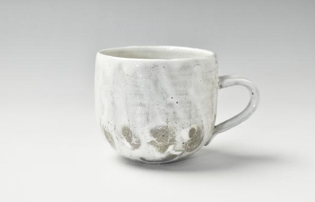 川村宏樹 粉引鎬マグカップ