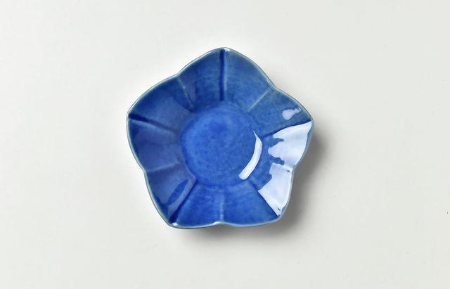 海野裕 ルリ桔梗小皿