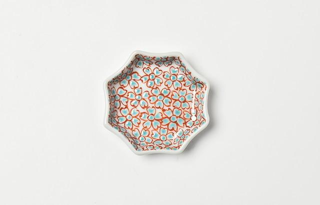 海野裕 色絵花詰豆皿