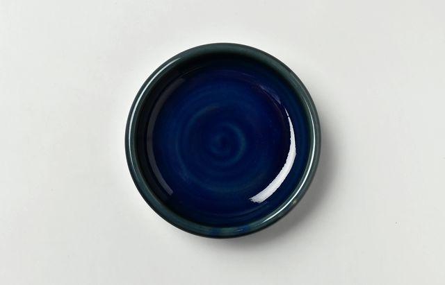 海野裕 濃ルリ4寸漬物小皿