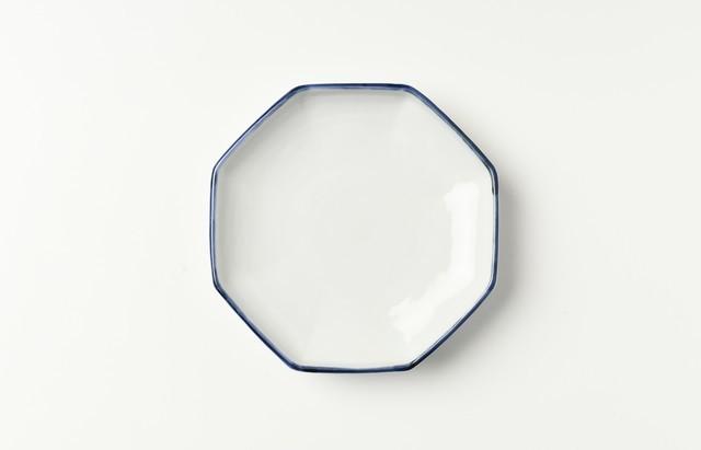 海野裕 縁ゴス八角漬物小皿