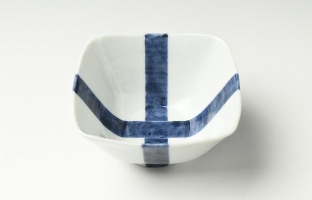 海野裕 四方鉢(中)襷文