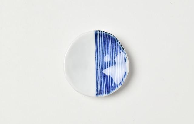 長谷川由香 箸置 線紋(片身替り)
