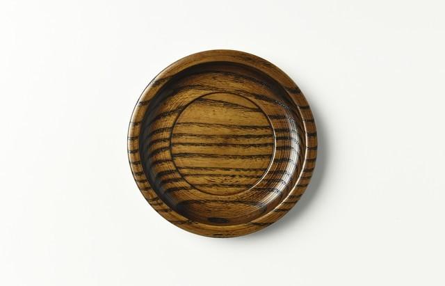 花田 すり漆4.3 厚手茶托(バラ)【H】