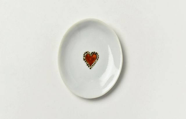 岡本修 楕円豆皿ハート