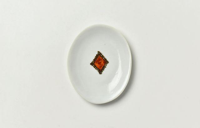 岡本修 楕円豆皿ダイヤ