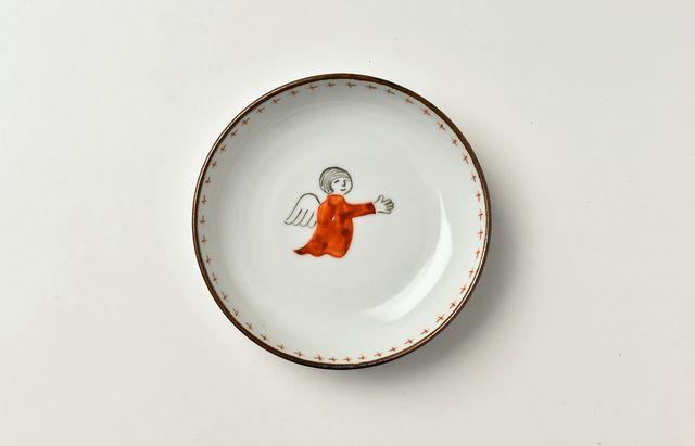 岡本修 縁十字文天使の小皿
