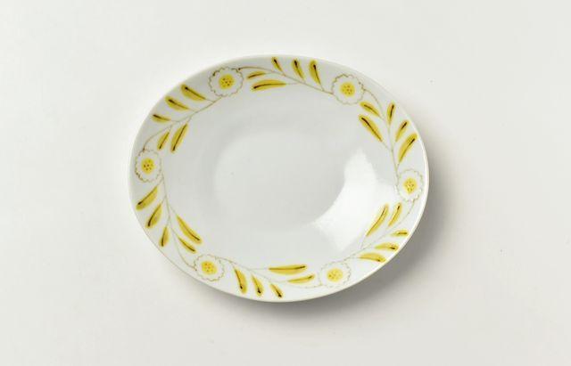 岡本修 なでしこ文楕円皿
