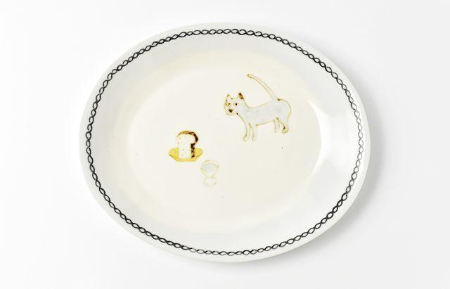 岡本修 ネコのパン皿