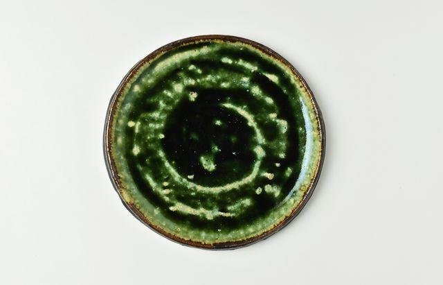 吉田学 織部縁鉄5寸平皿