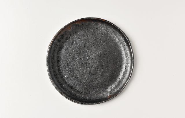 吉田学 鉄釉5寸平皿