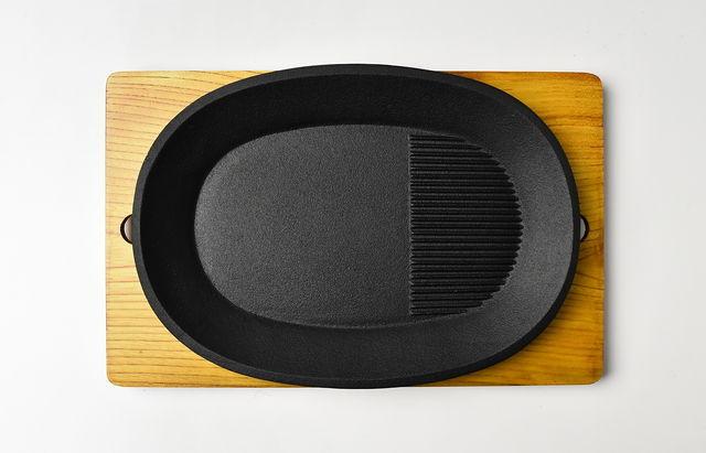 釜定 ステーキ皿(木台)