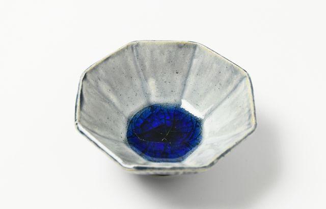 雪ノ浦裕一 藍釉八角豆鉢