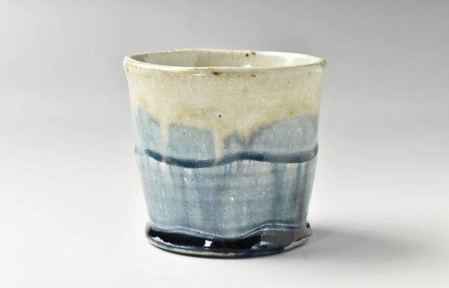 雪ノ浦裕一 藍釉フリーカップ