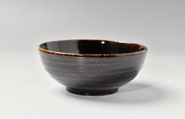 杉本寿樹 アメ釉丸小鉢(4.5寸)【H】