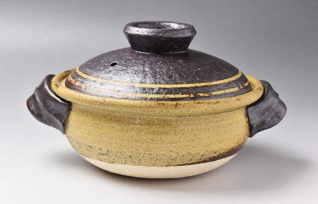 杉本寿樹 黄瀬戸コマ7寸土鍋