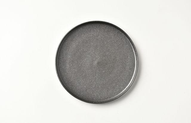 杉本寿樹 黒マット折縁4寸皿【H】