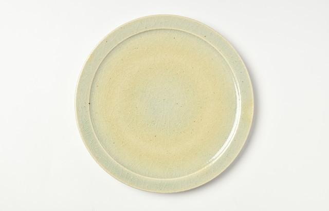 杉本寿樹 灰釉7寸皿