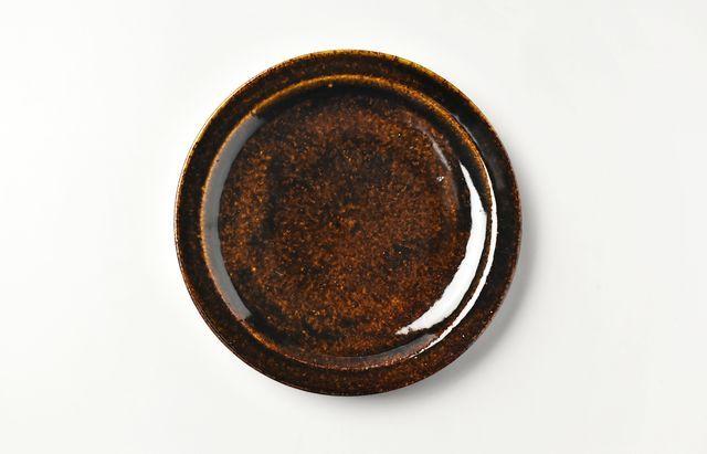 杉本寿樹 飴釉パン皿【H】