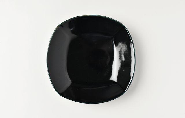 阿部春弥 ルリ四方4.5寸皿
