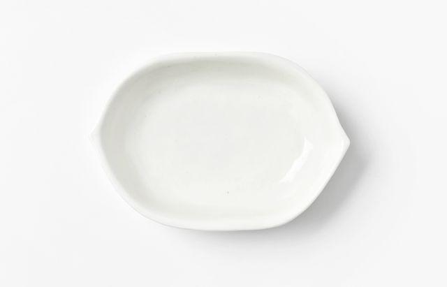 阿部春弥 白磁はなびら小皿