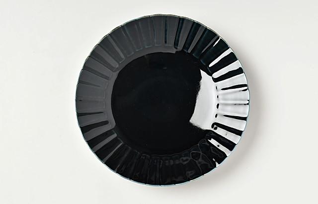 阿部春弥 ルリひまわり6.5寸皿