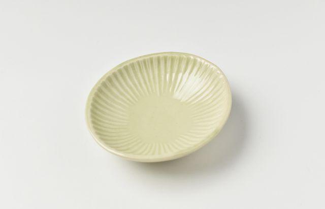 阿部春弥 もえぎしのぎ楕円豆鉢
