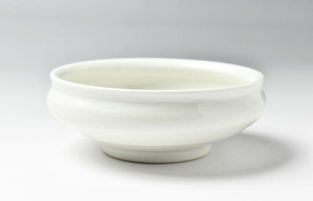 阿部春弥 白磁4寸小鉢