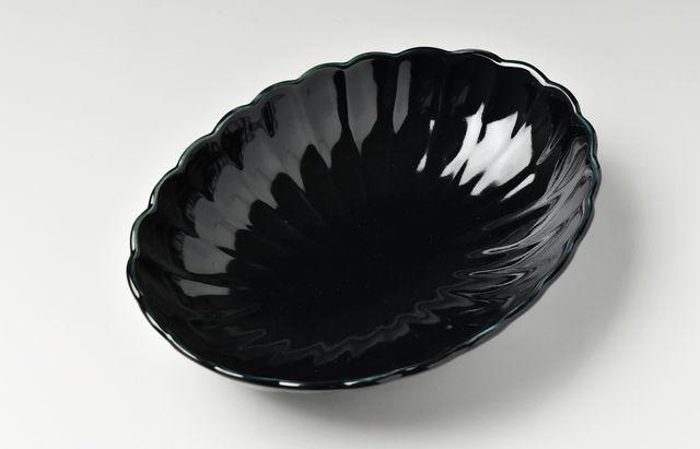 阿部春弥 ルリオーバル輪花鉢