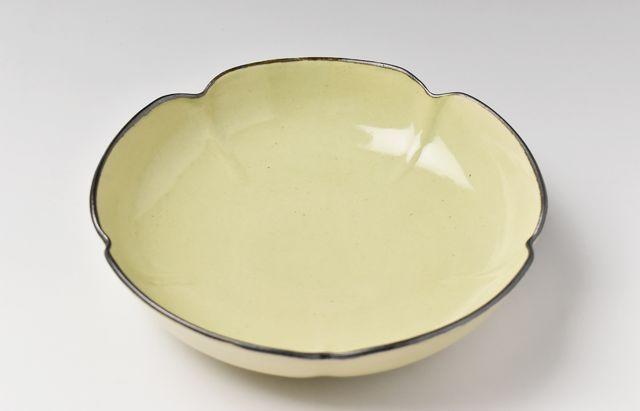 阿部春弥 もえぎ五弁6.5寸鉢