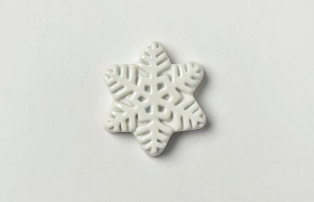 阿部春弥 白磁箸置 雪