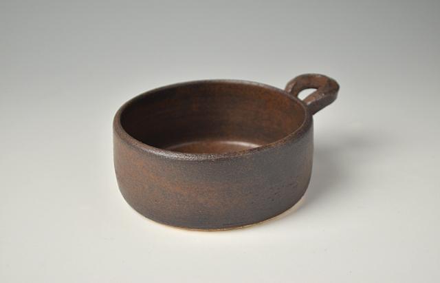 小川佳子 耐熱 丸オーブンパン(小)茶(予約品)