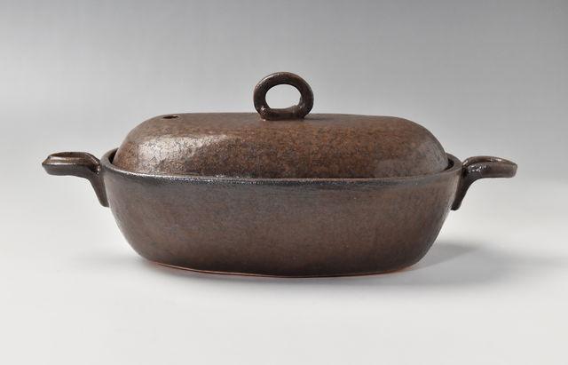 小川佳子 耐熱 楕円鍋(大)茶
