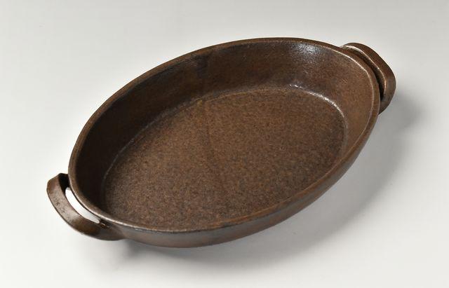 小川佳子 楕円オーブンパン(L)茶