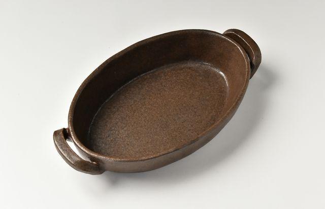 小川佳子 楕円オーブンパン(M)茶