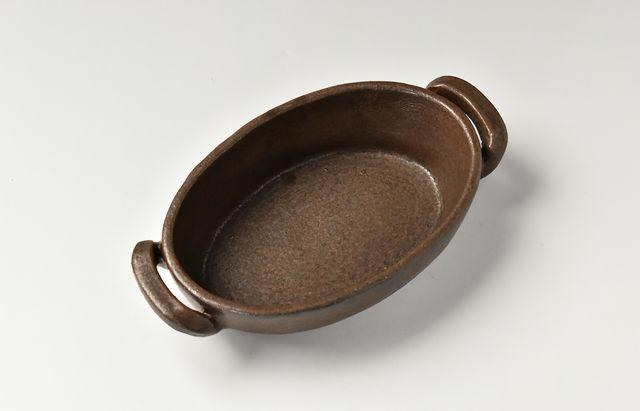 小川佳子 楕円オーブンパン(S)茶