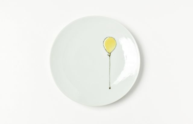 日下華子 黄色い風船4.5寸皿
