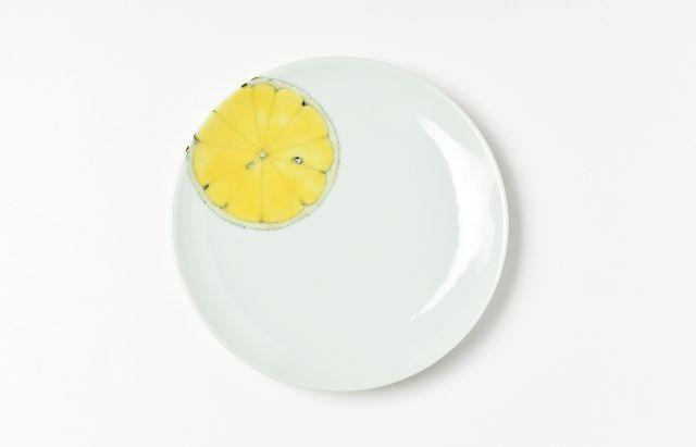 日下華子 オレンジ五寸皿