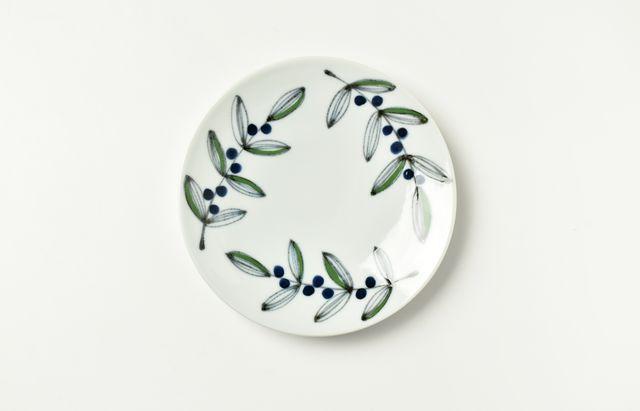 日下華子 葉と実五寸皿
