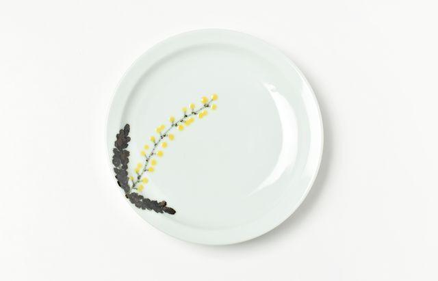 日下華子 ミモザ5寸皿