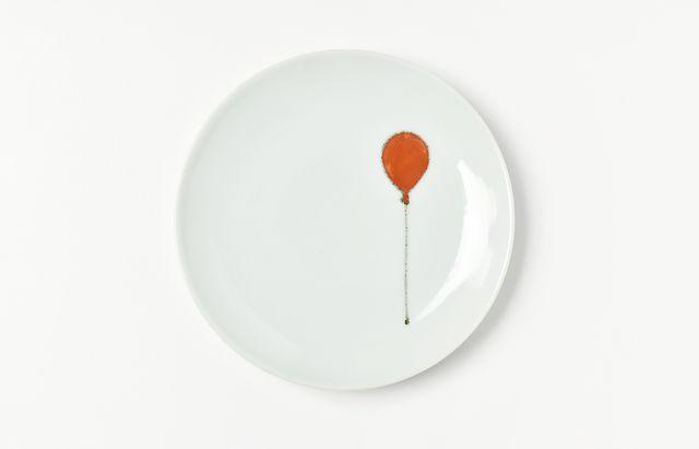 日下華子 赤い風船4.5寸皿