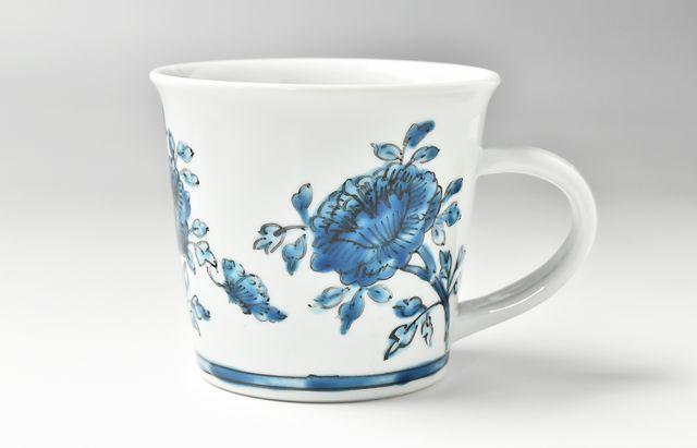 山本恭代 ◆青色マグカップ寸胴形