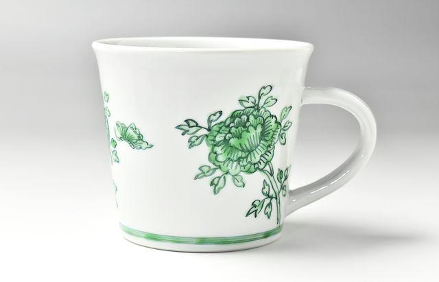 山本恭代 ◆緑色マグカップ寸胴形