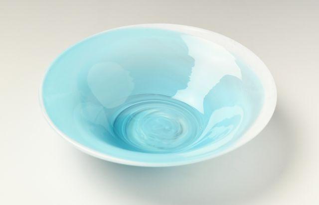 河上智美 ターコイズ冷製反り鉢