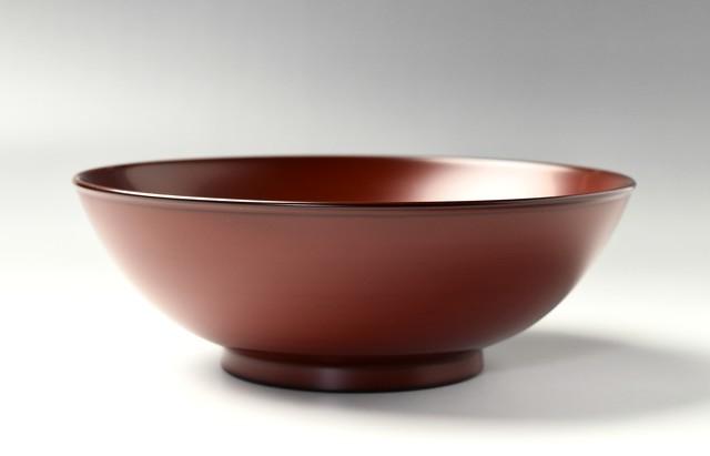 浅野奈生 7寸盛鉢(朱)