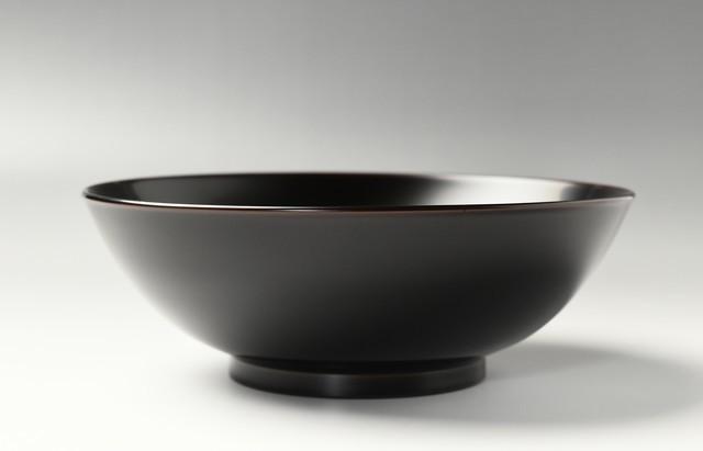 浅野奈生 7寸盛鉢(溜)