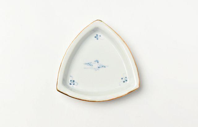 稲村真耶 鳥3寸三角皿
