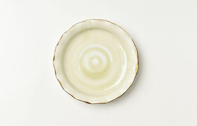 稲村真耶 月光釉4寸ヒラヒラ皿