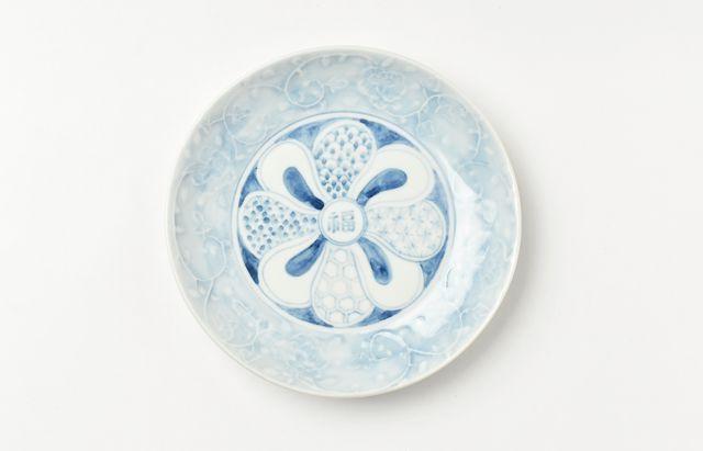 稲村真耶 祥瑞花唐草5.5寸皿
